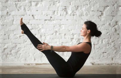 Postnatal Pilates for intermediate Classes you get a full body workout that helps you achieve improved flexibility and core strength