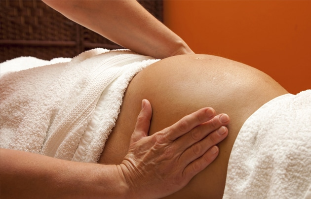 close up picture of pregnancy massage at Physiofit Woman