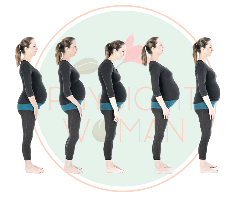 bad posture back pain pregnant woman with bad posture